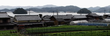 上佐波賀より左が烏島、右は蛇島