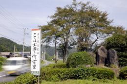 真下飛泉の歌碑(関)