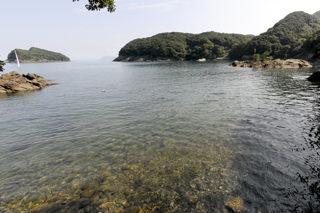 水ケ浦(対岸の天照皇大神社側から)