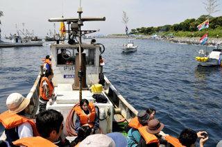 6月1日の雄島参り風景(冠島の南側)